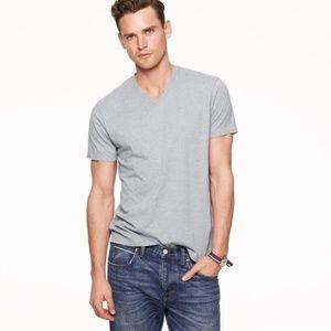 J. CREW Gray Broken In Slim Fit V-Neck T-Shirt NEW